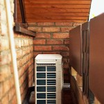Außengerät Klimaanlage Balkon nach Montage