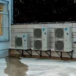 Außengeräte Klimaanlage
