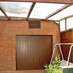 Klimaanlage Außengerät über Garage