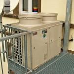 Klimaanlage Außengerät Treppenhaus Außen