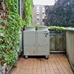 Klimaanlage Außengerät auf Balkon