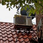 Klimaanlage Außengerät Panasonic Schrägdach