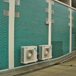 Außengeräte Klimaanlage Weiß