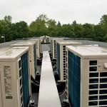 Außengeräte Klimaanlagen Flachdach