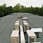 Klimaanlage Panasonic Außengeräte Flachdach