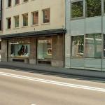 Außengerät Klimaanlage in Gebäude Außenwand