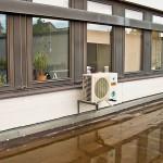 Klimasplitanlage Außengerät Gebäude