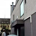 Außengerät Klimaanlage über Vordach