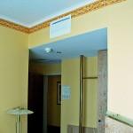 Kanalanschlussgerät über Tür