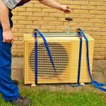Anbringung an Seilzug Außeneinheit Klimaanlage