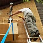 Seilzug Montage Split Klimaanlage Außeneinheit