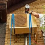 Außeneinheit Montage Klima Split Anlage