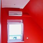 Split Klimaanlagen Wandgerät über Fenster
