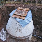 Wärmepumpen Bauarbeiten Garten Erdloch