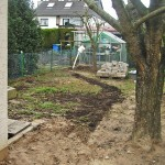 Bauarbeiten Garten Wärmepumpen