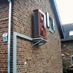 Außeneinheit Doppelhaushälfte Wärmepumpe Braun