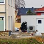 Bauarbeiten Doppelhaushälften Wärmepumpen