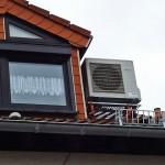Außeneinheit Wärmepumpe Dach