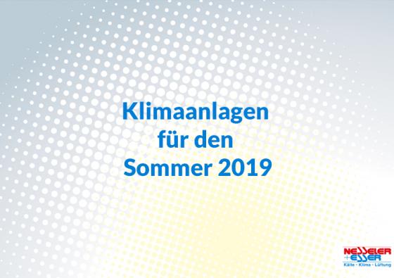 Klimaanlagen für den Sommer 2019